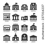 government buildings vector... | Shutterstock .eps vector #237316237