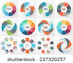 Vector circle arrows infographics set. Template for diagram, graph, presentation and chart. Business concept with 8 options, parts, steps or processes. Abstract background. | Shutterstock vector #237320257