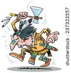 indian war dance   Shutterstock .eps vector #237323557