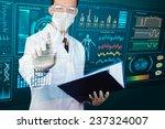 scientist pointing futuristic... | Shutterstock . vector #237324007