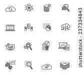 database analytics information... | Shutterstock .eps vector #237334843