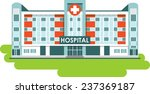 city hospital building in flat... | Shutterstock .eps vector #237369187