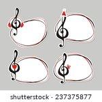 treble clef. vector frame. | Shutterstock .eps vector #237375877