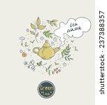 green tea card design | Shutterstock .eps vector #237388357