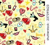 romantic funky pattern. vector... | Shutterstock .eps vector #237395623