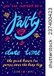 party invitation template.... | Shutterstock .eps vector #237400423
