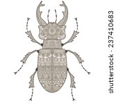 vector stag beetle  covered in... | Shutterstock .eps vector #237410683