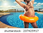 strange naked man at the pool | Shutterstock . vector #237425917