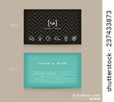 modern trendy business card... | Shutterstock .eps vector #237433873