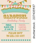 carousel birthday party | Shutterstock .eps vector #237435937