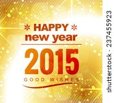 happy new year good wishes in... | Shutterstock .eps vector #237455923