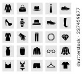 set of clothes icons. clothing... | Shutterstock .eps vector #237459877