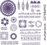 tribal  boho  bohemian mandala...   Shutterstock .eps vector #237486943
