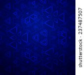 blue pattern on a blue... | Shutterstock .eps vector #237487507