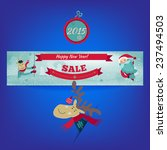 new year sale banner and... | Shutterstock .eps vector #237494503