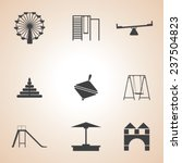 set of children's playground... | Shutterstock .eps vector #237504823