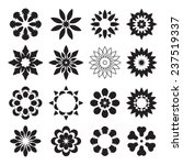 set of black geometric flowers | Shutterstock .eps vector #237519337