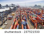 industrial port with containers | Shutterstock . vector #237521533