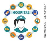 hospital and nurse related...   Shutterstock .eps vector #237534187