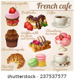 set of food icons. french cafe. ... | Shutterstock .eps vector #237537577