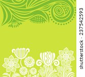 nature background with floral... | Shutterstock .eps vector #237542593