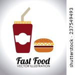 food and restaurant design over ... | Shutterstock .eps vector #237549493