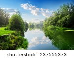Beautiful Blue River In The...