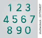 numbers set in polygon design | Shutterstock .eps vector #237556837