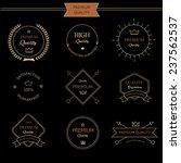 set of premium quality vintage... | Shutterstock .eps vector #237562537
