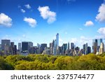 manhattan skyline with central... | Shutterstock . vector #237574477