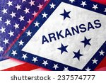 usa and arkansas state flag... | Shutterstock . vector #237574777