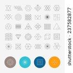 set of 30 geometric shapes.... | Shutterstock .eps vector #237582877