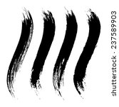 vector set of grunge brush... | Shutterstock .eps vector #237589903