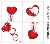 valentin s day cards | Shutterstock .eps vector #23764247