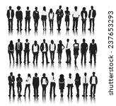 silhouettes of business people... | Shutterstock .eps vector #237653293