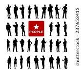 vector of diverse people using... | Shutterstock .eps vector #237653413
