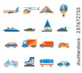 transport icons set with ship... | Shutterstock . vector #237672733