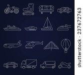 transport outline icons set... | Shutterstock . vector #237672763