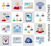 global people communication... | Shutterstock . vector #237674683