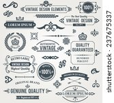 vintage design elements frames... | Shutterstock . vector #237675337