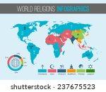 world religions infographic... | Shutterstock . vector #237675523