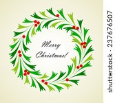 abstract christmas wreath with... | Shutterstock .eps vector #237676507