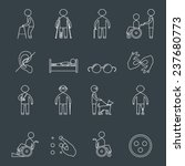 disabled people outline icons... | Shutterstock . vector #237680773