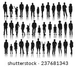 silhouettes group of people in... | Shutterstock .eps vector #237681343