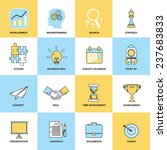 business icons flat line set of ... | Shutterstock . vector #237683833