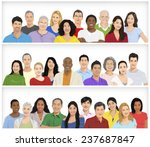 Illustration Of Multiethnic...