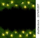 yellow led christmas lights on... | Shutterstock . vector #237691207