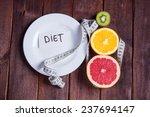 concept of diet. low calorie... | Shutterstock . vector #237694147