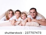 happy family with little... | Shutterstock . vector #237707473
