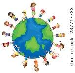 illustration of children all... | Shutterstock .eps vector #237717733